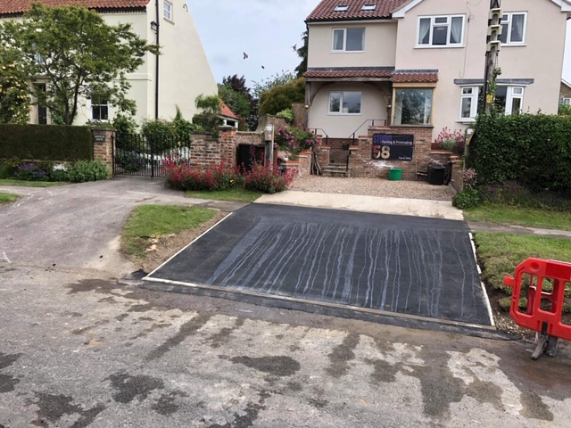 block paving and garden fencing